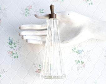 Art Deco Glass Bottle - Antique Slender Perfume Bottle