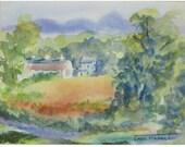 Country Road - Original Watercolor