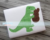 Easter Dinosaur Applique Design Machine Embroidery INSTANT DOWNLOAD