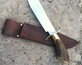 "Custom made ""Inglorious Basterds"" Bowie Knife and Sheath. For Shane Munce . Please do not buy if you are not Shane"