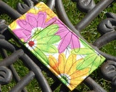 Tampon Holder - Glasses Case - Bold Colorful Flowers - Daisies