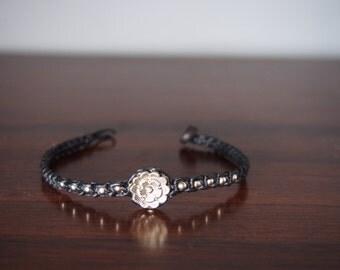 Little lotus tattoo bracelet/handmade Bracelet Wax String Thailand - FAIR TRADE Handmade Jewelry Summer trends/nine jakra bracelet/yoga brac