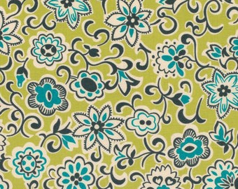29016 Free Spirit Denyse Schmidt Ansonia - Floral Paisley in Mossy  color PWDS059 -  1 yard