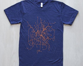 Paris T-Shirt - Indigo/Orange