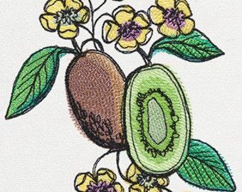 Summer Tastes Kiwi Embroidered Flour Sack Hand/Dish Towel