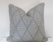 SALE! Lacefield Designs Tahitian Stitch Sapphire Decorative Pillow,Geometric Print in Blue,Throw Pillow