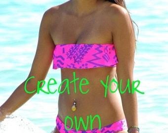 30% Off Sale Hilo 1Ruffle Bikini Top - 1) Choose Style 2) Choose Fabric 3) Choose Size