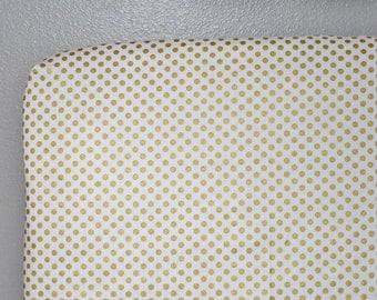 Fitted Crib Sheet Metallic Gold Dots - Metallic Crib Sheet - Gold Crib Sheet - Metallic Crib Bedding - Gold Crib Bedding - Baby Bedding