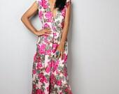 Pink Floral Dress  - Floral Dress : Oriental Secrets Collection