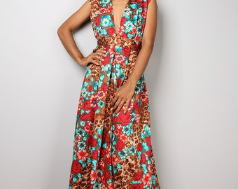 Floral Dress - Romantic Summer Dress  - Boho Maxi Dress : Oriental Secrets Collection