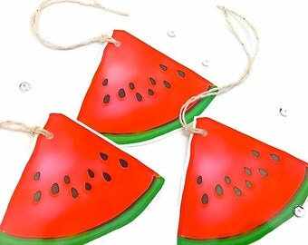 9 Large Watermelon Gift Tags. Quarter slice Watermelon Fruit Gift Tag Labels. Gift Embellishments. Summer Novelty Gift Tags. Food gift tags