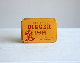 vintage original player's digger flake tobacco tin