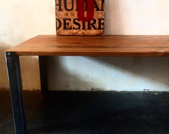 Industrial Reclaimed Wood & Metal Table | conference table  made in Dtla