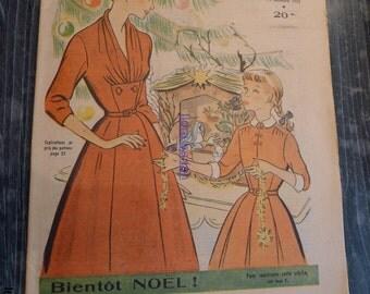 antic french fashion magazine 14 decembre 1952