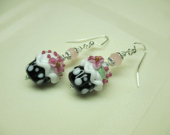 Cupcake Lampwork Earrings