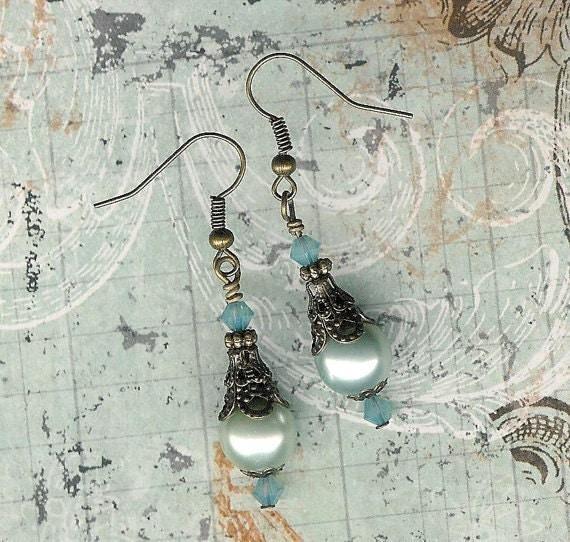 Do It Yourself Jewelry: Seafoam Pearl Earrings, Make Your Own Earrings Kit