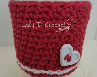 Crocheted Cup Cozy-Cotton