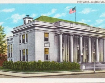 Hopkinsville, Kentucky, Post Office - Vintage Postcard - Postcard - Unused (A5)