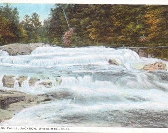 Jackson Falls, White Mountains, New Hampshire - Vintage Postcard - Unused (P)