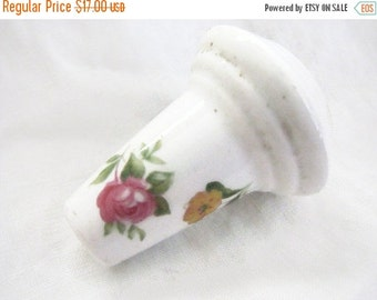 Valentine SALE English Porcelain Pull For Chandelier or Lamp Or Finial