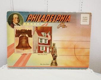 Vintage 1960s Philadelphia Tourist Postcard Set