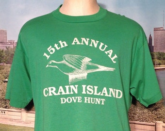 Late 80's, early 90's Crain Island Dove Hunt t-shirt, XL