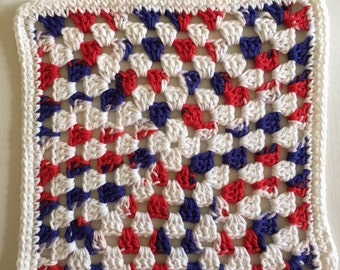 Red, White and Blue Dishcloth