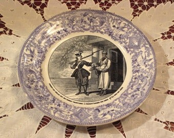 Antique HB Choisy Transferware Plate Circa 1840's