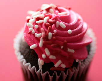 Chocolate Cupcake Art Print, Cupcake Print, Cupcake Photography, Food Photography, Nursery Art, Cupcake Home Decor, Cupcake Art, Kitchen Art