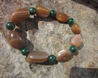 Sunstone Malachite Bracelet