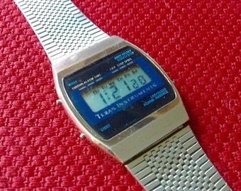 Vintage Texas Instruments Chronograph Watch Lcd Digital chronograph 1970s