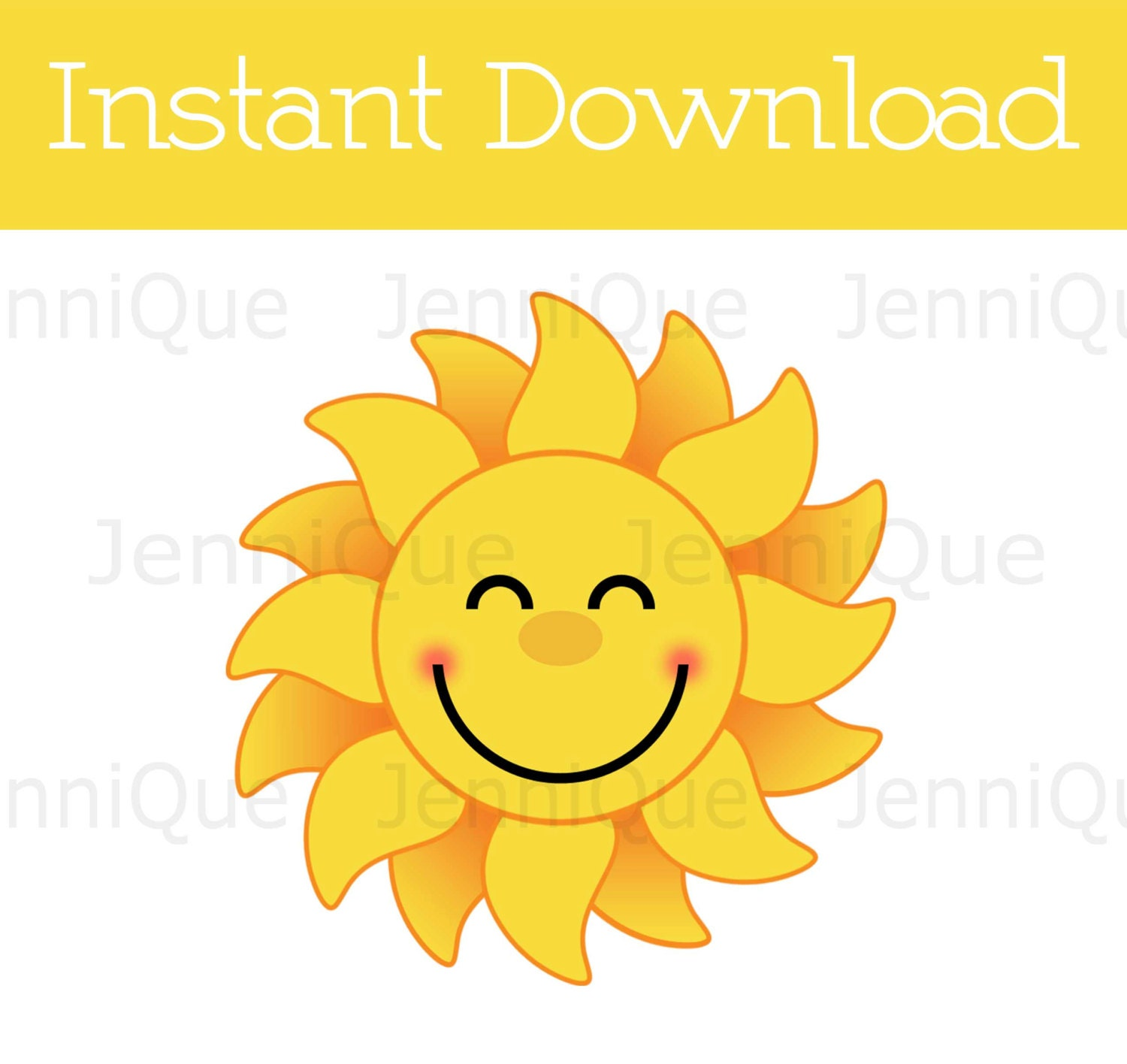 Printable Sunshine Cut Out Smiling Decoration Baby