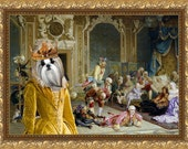 Shih Tzu Art CANVAS Print Fine Artwork of Nobility Dogs Dog Portrait Dog Painting Dog Art Dog Print