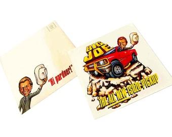 1988 Isuzu Pickup Truck Big Joe Postcard & Envelope Hi Pardner! Joe Isuzu Car Dealer Advertising Dealership Caricature Pick Up Truck