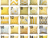 SALE Modern Yellow Pillow- Premier Prints Yellow Pillow Cover- 20x20 inches- Zippered Pillow- You Choose- Cushion Cover- Pillow Case- Throw
