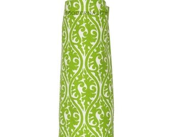 SALE Cabinet Organizer- Plastic Bag Holder- Chartreuse Green Kimono- Kitchen Grocery Bag Storage- Bathroom Storage- Doggy Bag Dispenser