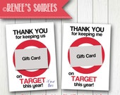 Printable GIFT CARD Holder - for Teacher, Coach, Coworker, Mentor, Employee gift - Great for Target gift cards