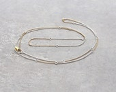 Long Chain Necklace Mixed Metal Necklace Contemporary Jewelry Design