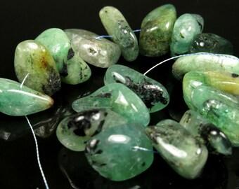 "Emerald Chips - Strand Length 11 cm (4.33"") - B5078"