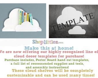 Cloud Wall Shelf-Small Template DIY