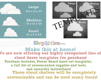 Cloud Wall shelf template- Small medium and large collection-DIY