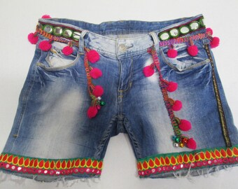 Recycled Denim Short Upcicled