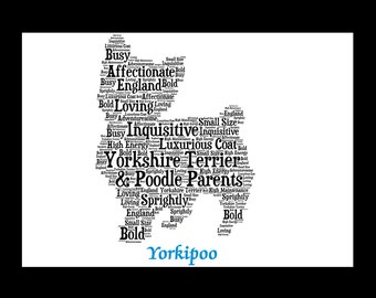 Yorkipoo, Yorkipoo Art Print, Yorkipoo Pet Memorial, Custom, Personalize, Pet Gift,  Dog Art, Pet Art, Pet Memorial, Custom Dog