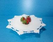 Westmoreland Pedestal Cake Stand Plate Ring and Petal Design / White Milk / Weddings