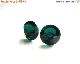 SALE Green Crystal Stud Earrings, Green Studs, Swarovski Crystal, Emerald Earrings, Bridesmaid Earrings, Bridesmaid Gifts, Post Earrings