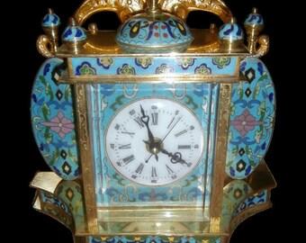 Cloissonne Portrait Clock