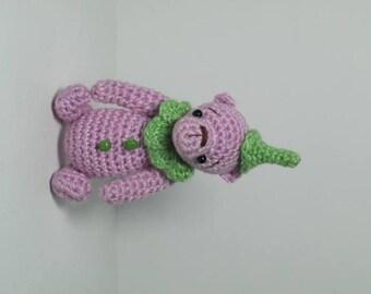 OOAK Artist Bear Crochet Miniature Bear Gnome  *Tom*