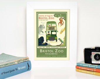 Bristol A3 Giclée Print - New Bristol Zoo Travel