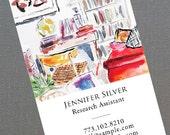 Researcher,Art Historian,Writer,Interior Design Business Card,  Set of 50