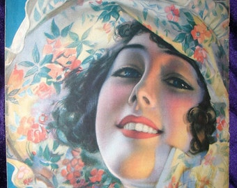 PRETTY GIRL Vintage Sheet Music 1919 Girl of Mine by Harold Freeman Rolf Armstrong Artist